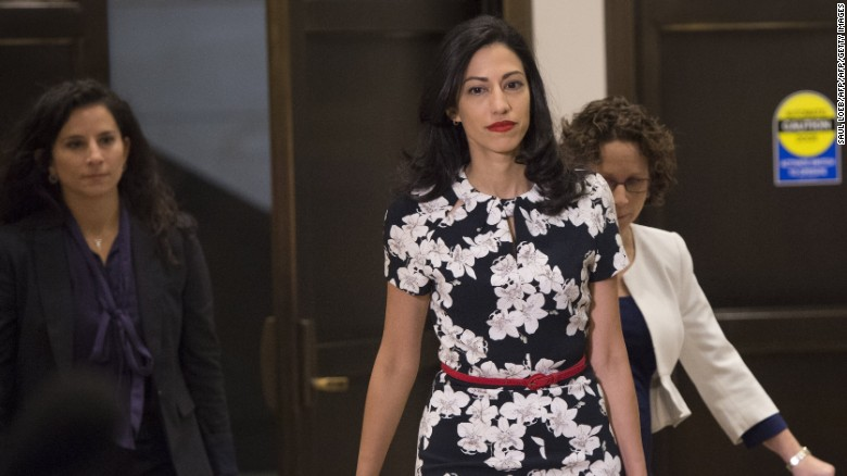 Huma Abedin, longtime aide to former U.S. Secretary of State and Democratic presidential candidate Hillary Clinton, arrives to speak to the House Select Committee on Benghazi on Capitol Hill in Washington on Friday, October 16.