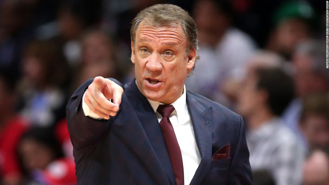 LOS ANGELES, CA - MARCH 09:  Head coach Flip Saunders of the Minnesota Timberwolves gestures during the game with the Los Angeles Clippers at Staples Center on March 9, 2015 in Los Angeles, California.   NOTE TO USER: User expressly acknowledges and agrees that, by downloading and or using this photograph, User is consenting to the terms and conditions of the Getty Images License Agreement.  (Photo by Stephen Dunn/Getty Images)