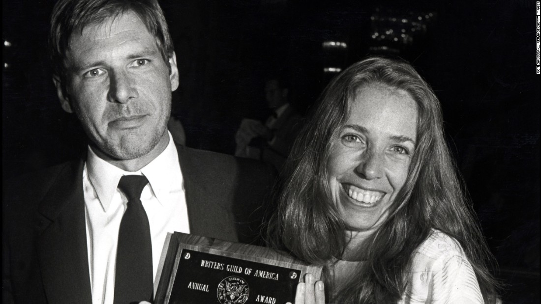 Harrison Ford and Melissa Mathison during Writers Guild Awards - April 7, 1983 at Beverly Hilton Hotel in Beverly Hills, California, United States. (Photo by Ron Galella/WireImage)