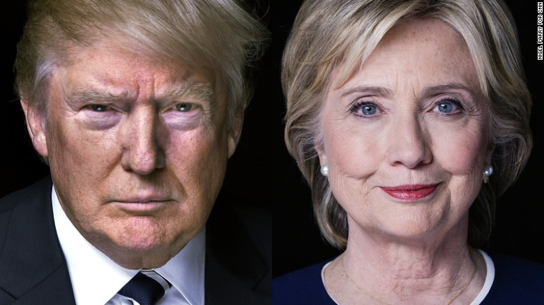 Image result for Trump against clinton