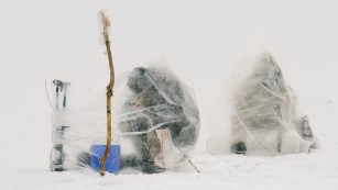 Ice fishing in one of the world's coldest cities