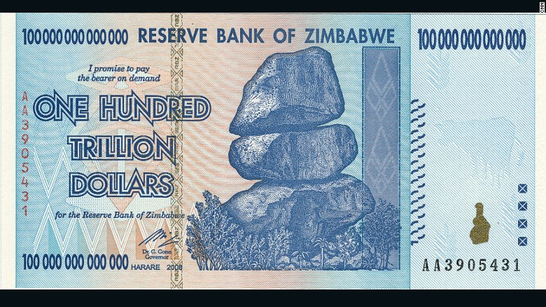 Image result for zimbabwe dollar notes