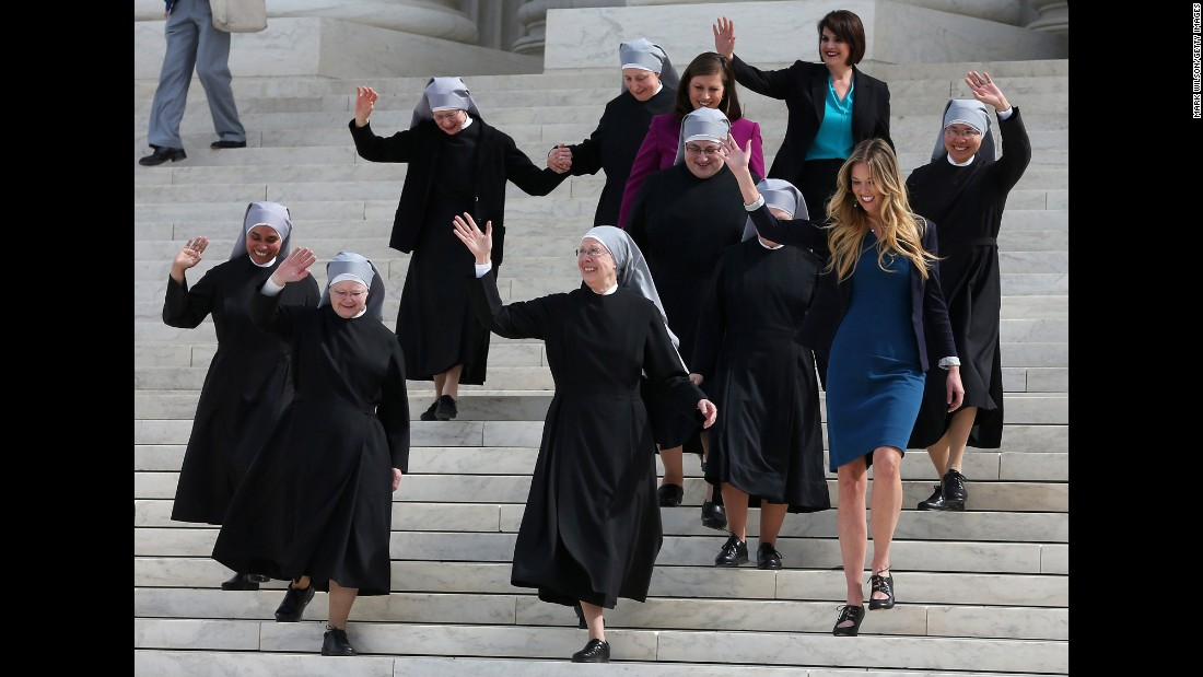 Image result for photos of nuns supporting obamacare