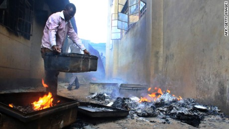 Image result for fire in school in kenya