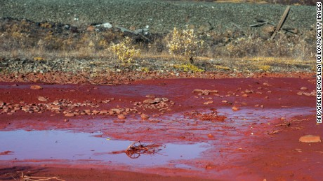 Russian river turned red by metallurgical waste, Norilsk ...