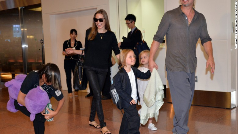 Image result for Angelina Jolie and Brad Pitt's custody tangle