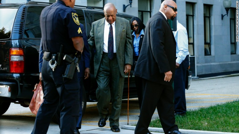 Bill Cosby arrives at the Montgomery County courthouse  in November.