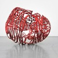 The Heart by Ghada Amer  Painted stainless steel  2012