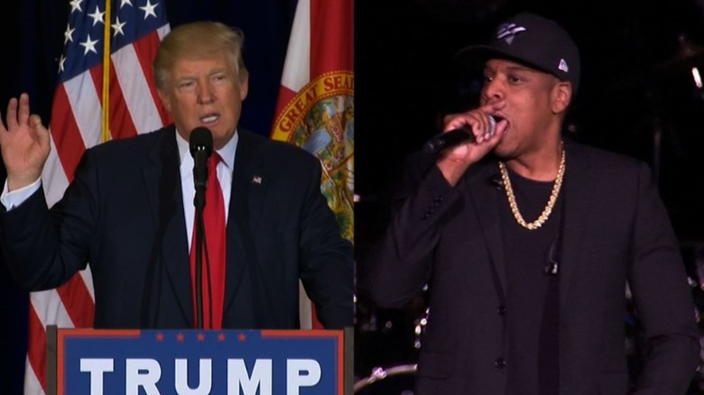 Image result for Donald Trump mocks hip hop as 'talking'