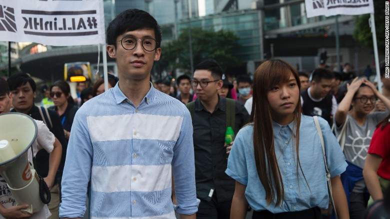 "Sixtus ""Baggio"" Leung, left, and Yau Wai-ching have vowed to fight the Hong Kong High Court ruling."