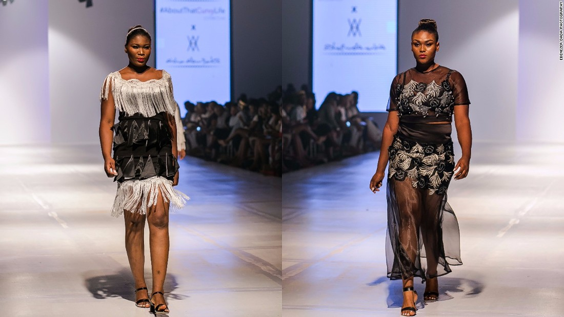 "She hopes to return to Lagos Fashion Week next year to get another hit. ""I wish I could bottle that feeling and just sip on it every day of my life,"" she says. <br />Pictured: Models display creations from Aisha Abu-Bakr Luxury Design."