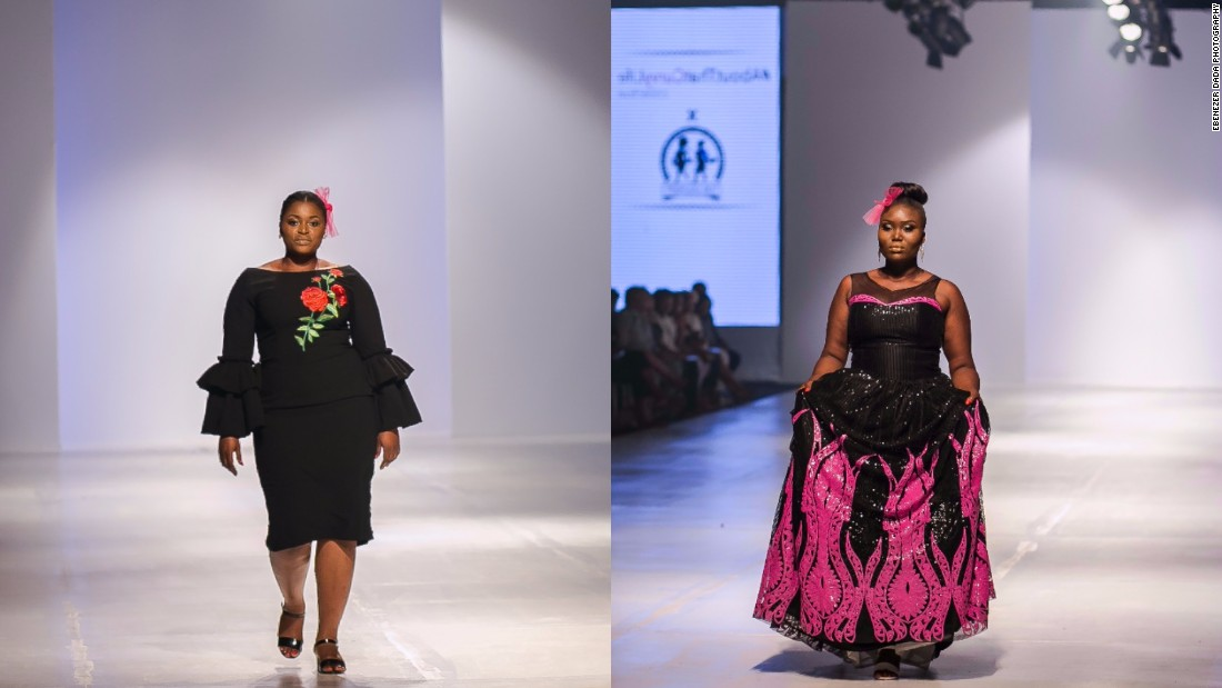 "According to Ngwube the plus-size models really owned the runway. ""This was a mission of firsts and they walked like their lives depended on it."" <br />Pictured: Models sport creations by designer Tobi Ogundipe of Tosfa."