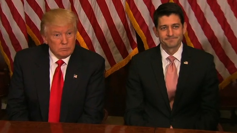 Image result for Images of Ryan and Trump