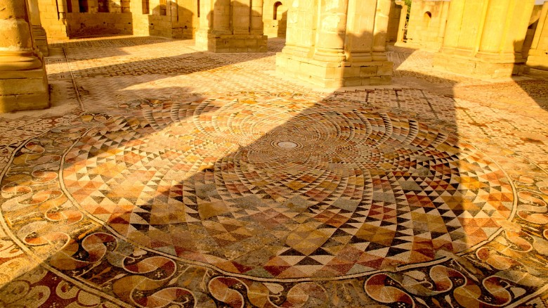 The resurfaced stones bring to life stunning, nearly perfect geometric patterns, each intricately detailed in one of 38 floor sections.
