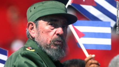 Cuban President Fidel Castro during the May Day celebration in 2004.