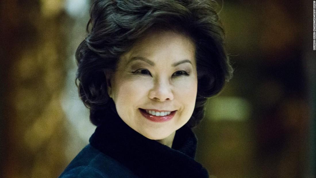 Elaine Chao Confirmed As Transportation Secretary