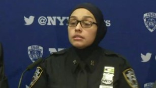 Muslim cop told to 'go back to your country'