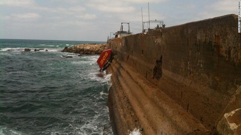 """The """"floaters"""" can be pulled up out of the water if maintenance needs to be done or if the conditions are too rough."""