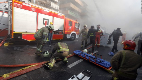 Iran: 'More than 20 firefighters dead' in Tehran building ...