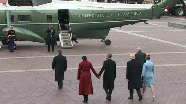 Trump, Obama depart inaugural ceremony - CNN Video