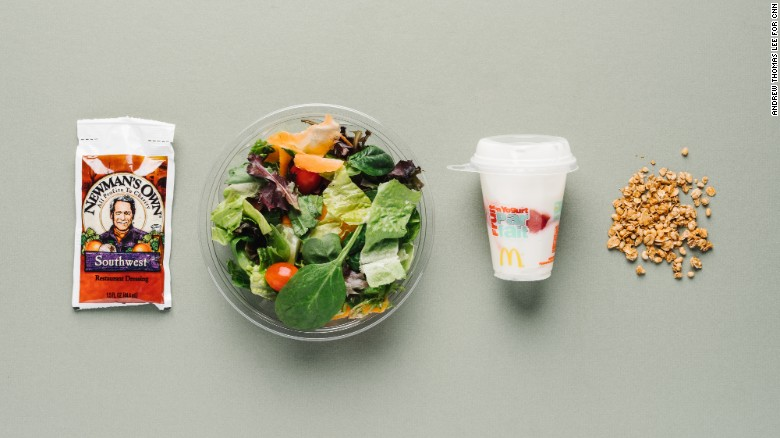 McDonald's Southwest salad for vegetarians