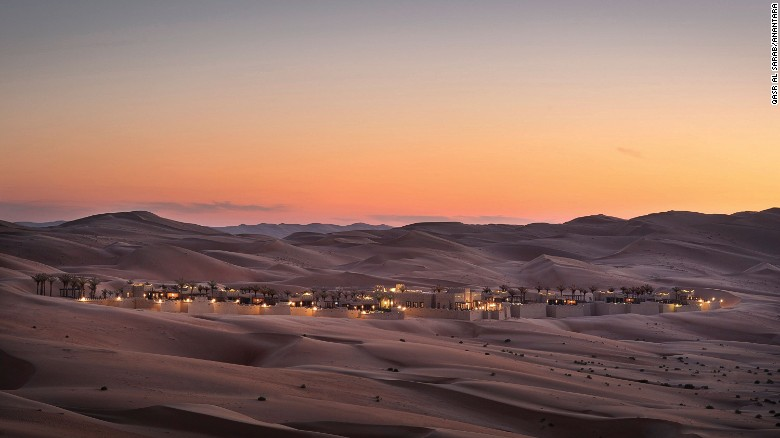 <strong>Abu Dhabi's Qasr Al Sarab Desert Resort:</strong> Perched on the edge of the Empty Quarter, the world's largest uninterrupted sand desert, the Qasr Al Sarab Resort offers guests the chance to explore one of the world's great wildernesses.