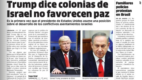 The Dominican Republic's El Nacional confused actor Alec Baldwin with his spoof target, President Donald Trump.