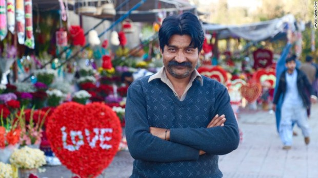 Mohammad Naveed who runs a roadside flower shop tells CNN he's invested close to $2000 on buying flower supplies for February 14.