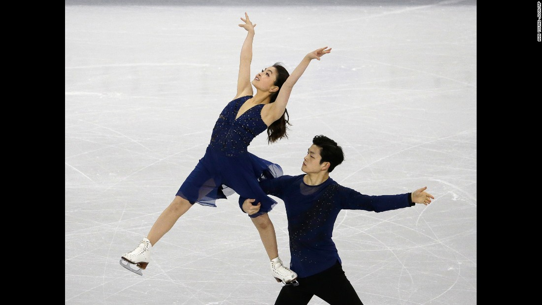 US ice dancers Maia and Alex Shibutani compete at the Four Continents event in Gangneung, South Korea, on Friday, February 17. The siblings won the silver medal.