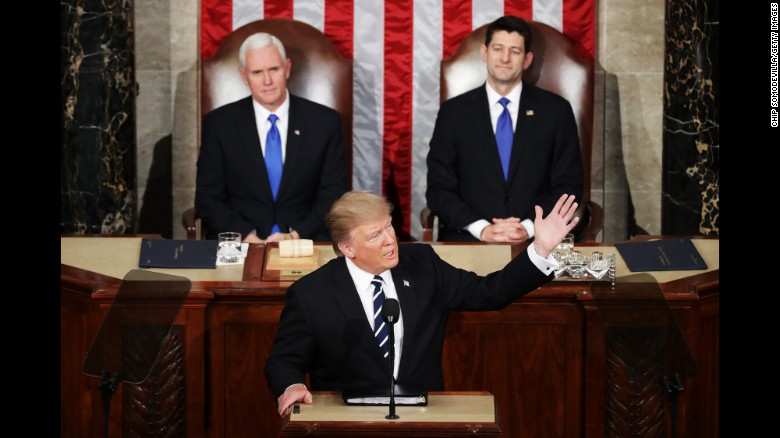 Trump addresses Congress. (Via CNN)