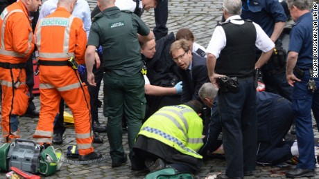 MP Tobias Ellwood rushes to Keith Palmer's aid