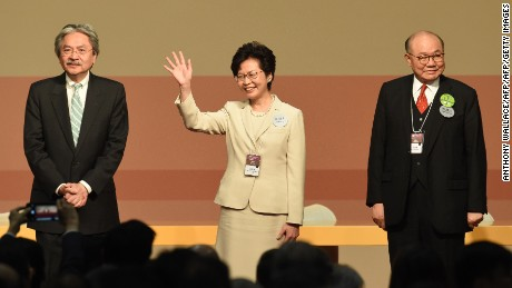 Hong Kong: Carrie Lam selected to be city's next leader ...