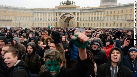 Geography of Russia protests 'really stunning'