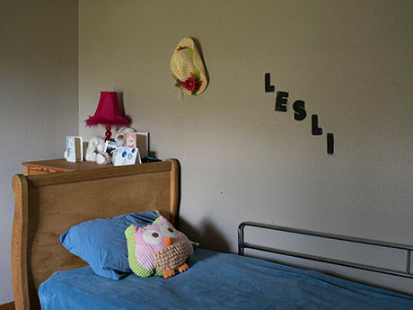 Lesli has lived in this group home since 2000; she shares it with five others.
