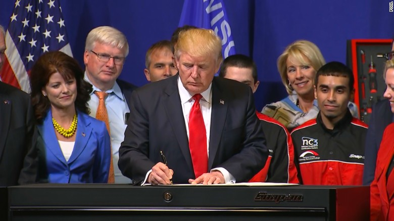 Image result for Trump pushes 'Buy American, Hire American' policy in Wisconsin