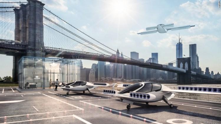 Il Lilium Jet è designd a decollare in verticale da eliporti o altri piccoli spazi - anche giardini.