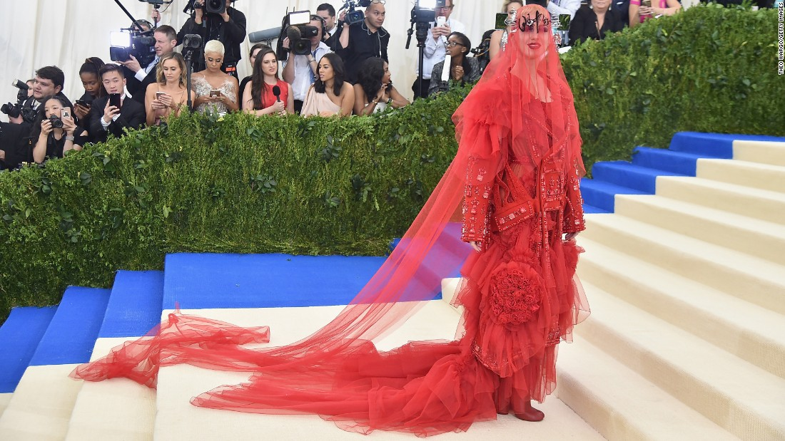 "Co-chair Katy Perry. Over the years, <a href=""http://www.cnn.com/2017/04/28/fashion/met-gala-2017-red-carpet-history/"">the galas became </a>launch parties for the exhibitions, where designers, industry insiders and fashionable celebrities turned out in full force."
