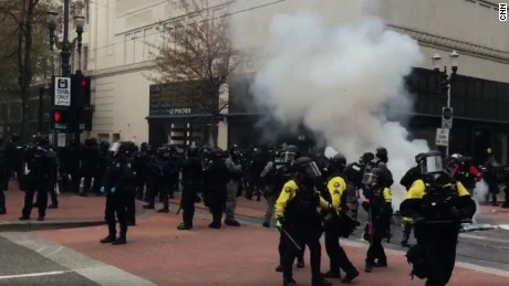 Several arrested in Portland May Day protests