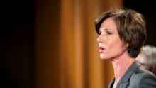 Deputy Attorney General Sally Q. Yates speaks during a press conference at the Department of Justice on June 28, 2016 in Washington, DC.