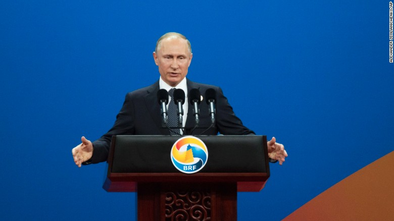 """Russian President Vladimir Putin warned against """"protectionism"""" at the Belt and Road Forum."""