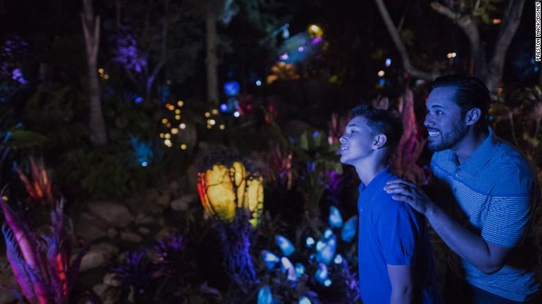 Pandora literally glows at night.