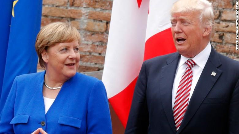 Merkel speaks to Trump on Friday in Sicily.