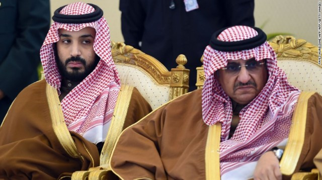 Mohammed bin Salman (L) has replaced Mohammed bin Nayef (R)as crown prince.