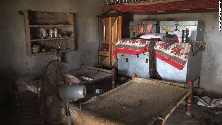 A view of a room where a Pakistani teenage girl was raped in Muzaffarabad, taken on July 26.