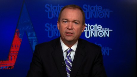 Image result for images of Mick Mulvaney on CNN July 30, 2017