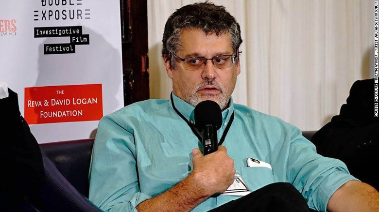 Glenn Simpson, Partner of Fusion GPS, speaks on a panel at the Double Exposure Investigative Film Festival and Symposium on October 7, 2016 in Washington.
