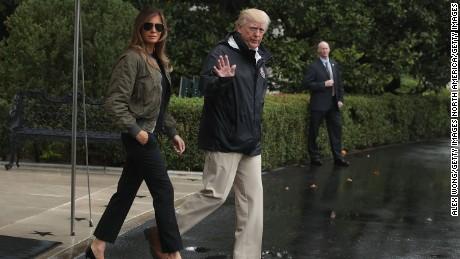 Trump makes Texas visit as rains continue
