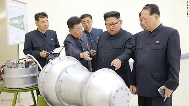 North Korean state media released images Sunday claiming that Kim Jong Un watched a Hydrogen bomb being loaded onto a new ICBM. That claim has not been verified.