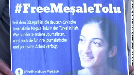 German journalist Mesale Tolu has been detained for more than five months in a Turkish prison.