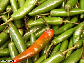 The FDA has discouraged all consumers from eating raw jalapeño peppers.